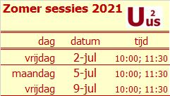 Zomer sessies 2021