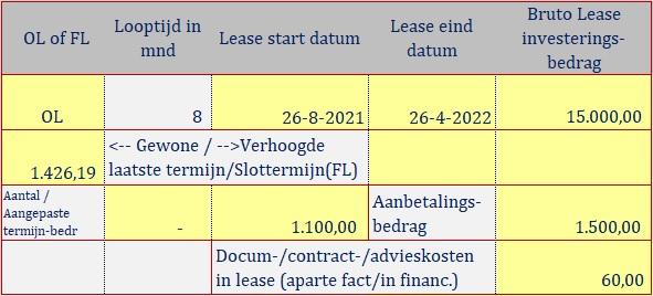 basis lease info